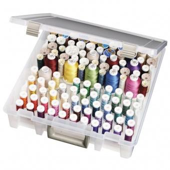 JUMBO Garnbox mit Einsätzen - Klarsicht Nähgarnkästchen von Art Bin - ArtBin Thread Box Super Satchel