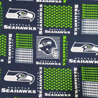 Seattle Seahawks Motivstoff - Original NFL Lizenzstoff - American Football Meterware