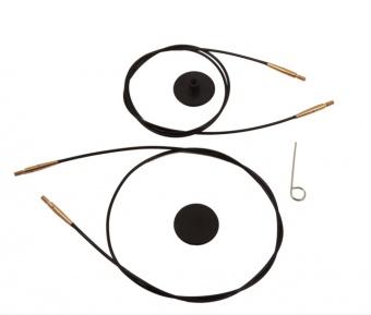KnitPro - Schwarz-Silber Auswechselbare Nadelseile für Stricknadeln