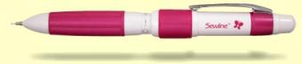 Sewline Trio Fabric Pencil / Vorzeichenstift für Schwarz, Weiß & Pink - 3-in-1