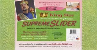 KING Size Supreme Slider - Extra JUMBO Rutsch Matte zum Freihand Quilten - SONDERBESTELLUNG