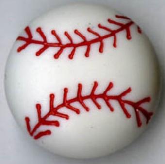 2 Baseball Knöpfe - Baseballbälle