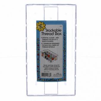 Garnbox für verschiedene Größen - Klarsicht Nähgarnkästchen