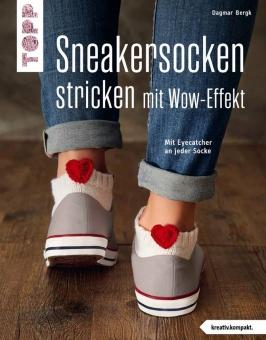 Sneakersocken stricken mit Wow-Effekt - Mit Eyecatcher an jeder Socke - Dagmark Bergk