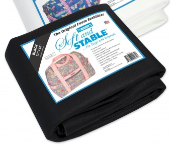SCHWARZ! Soft & Stable Stabilisator Black - Taschenvlies by Annie's - 72 x 58 Inches SB-Packung XXL JUMBO!