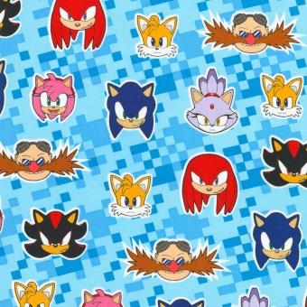 Sonic the Hedgehog Computerspielstoff - Original SEGA Lizenzstoff