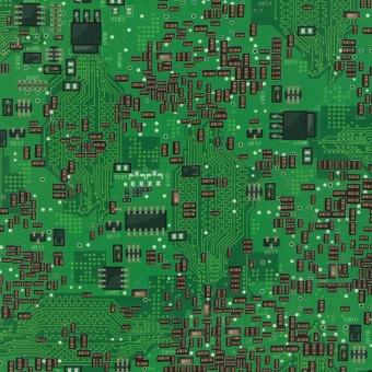 Schaltkreise & Motherboards - Bright Idea Mod Geek Science Fair - Computer-Motivstoff - Robert Kaufman