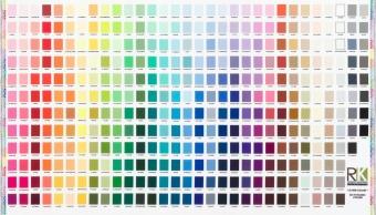 Digitaldruck! Kona Farbkarte auf Stoff - Kona Cotton Solids Unistoffe - PANEL inklusive Neuheiten 2019