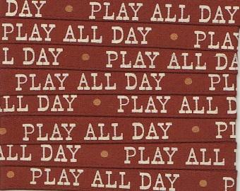 Japanisches Zierband mit Schrift - Play all Day