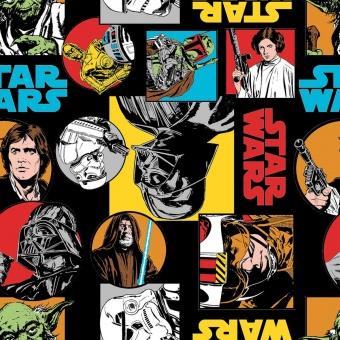 Original Star Wars Flanell Stoff - Star Wars Darth Vader, Boba Fett, Storm Trooper, C3PO, R2D2 uvm. Flannel
