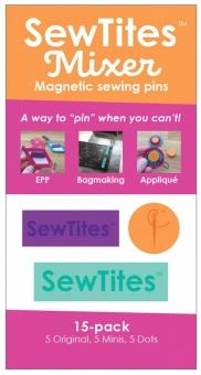 SewTites Mixer - Magnetic Sewing Pins - 15er Set - 5x Originals / Minis / Dots