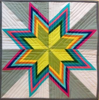 Striped Starburst KONA Cotton - Quilt Anleitung - GRATIS DOWNLOAD
