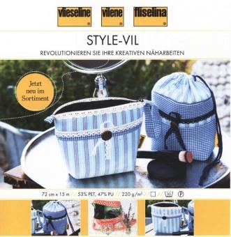 Style-Vil Schaumstoff Einlage - Stabilisierendes Taschenvlies - METERWARE