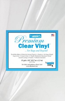Quilter's Vinyl - Clear Vinyl 16 Gauge - by Annie's - Klarsicht / Durchsichtig  - METERWARE