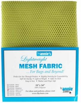 """Bunter, kleinmaschiger Netzstoff by Annie's - Lightweight Mesh Fabric - SB-Packung 18"""" x 54 inches Apple Green / Apfelgrün"""