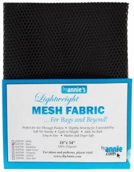 """Bunter, kleinmaschiger Netzstoff by Annie's - Lightweight Mesh Fabric - SB-Packung 18"""" x 54 inches Black / Schwarz"""