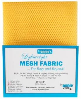 """Bunter, kleinmaschiger Netzstoff by Annie's - Lightweight Mesh Fabric - SB-Packung 18"""" x 54 inches Dandelion / Gelb"""