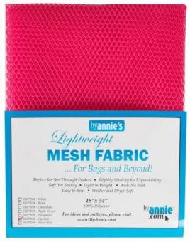 """Bunter, kleinmaschiger Netzstoff by Annie's - Lightweight Mesh Fabric - SB-Packung 18"""" x 54 inches Lipstick / Pink"""