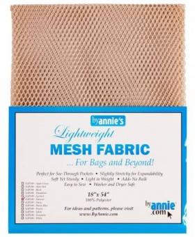 """Bunter, kleinmaschiger Netzstoff by Annie's - Lightweight Mesh Fabric - SB-Packung 18"""" x 54 inches Natural / Beige"""