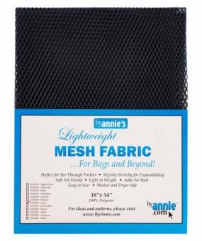 """Bunter, kleinmaschiger Netzstoff by Annie's - Lightweight Mesh Fabric - SB-Packung 18"""" x 54 inches Navy Blue / Marineblau"""