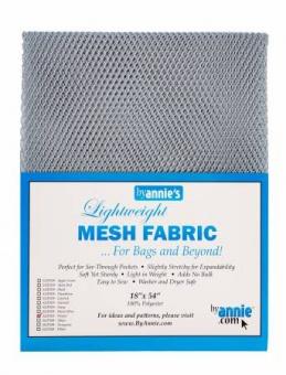 """Bunter, kleinmaschiger Netzstoff by Annie's - Lightweight Mesh Fabric - SB-Packung 18"""" x 54 inches Pewter / Grau"""