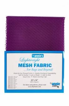 """Bunter, kleinmaschiger Netzstoff by Annie's - Lightweight Mesh Fabric - SB-Packung 18"""" x 54 inches Tahiti Purple / Beeren-Lila"""