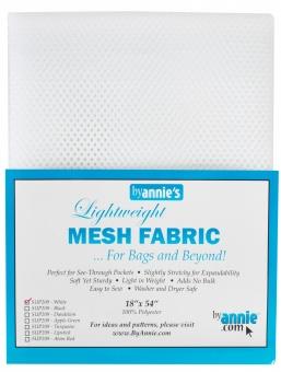 """Bunter, kleinmaschiger Netzstoff by Annie's - Lightweight Mesh Fabric - SB-Packung 18"""" x 54 inches White / Weiß"""