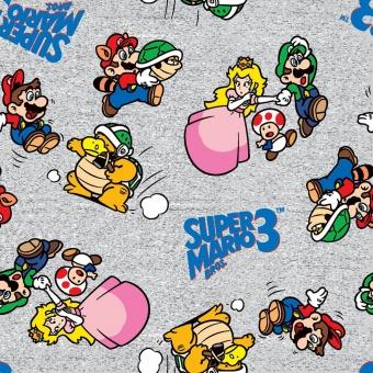 Super Mario Brothers & Friends Motivstoff - Nintendo Lizenzstoff - Patchworkstoff mit Luigi, Yoshi, Prinzessin Peach, Toadstool, Bowser uvm.