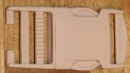 30mm / 3cm Steckverschluss / Klickverschluss / Steckschließe - beige