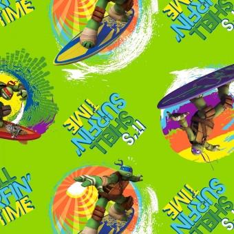 Teenage Mutant Ninja Turtles Comicstoff - Nickelodeon Motivstoff - Hero Turtles Baumwollstoff