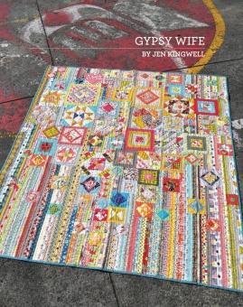 Gypsy Wife Sampler Pattern Anleitung - Patchworkbuch von Jen Kingwell - Update: Wanderer's Wife