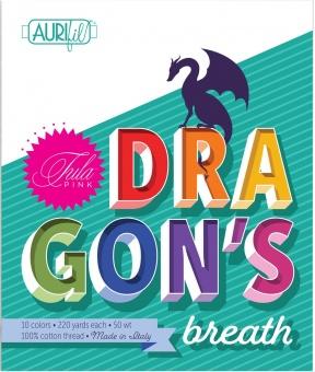 Tula Pink Dragon's Breath Collection - Kleines Aurifil Garnsortiment