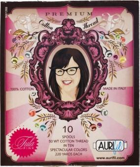 Tula Pink Premium Collection - Kleines Aurifil Garnsortiment