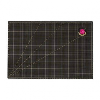 """Große Schwarz-Goldene Schneidematte - Original Tula Pink Hardware - Cutting Mat 24"""" x 36 inches"""