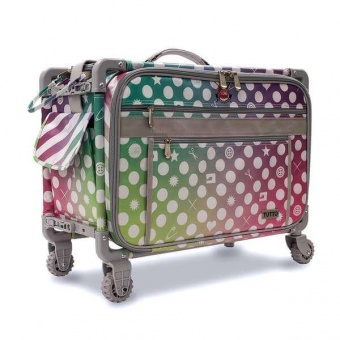 Limited Edition Tutto Nähmaschinentrolley & Kurstasche XL - Original Tula Pink Hardware - Tula Pink Extra Large Tutto Trolley
