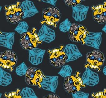 "Transformers Motivstoff - ""Robots Generations Classic Bumblebee "" Autostoff - Original Hasbro Autobots Lizenzstoff"