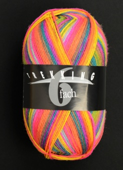 Trekking 6-fach - 6-fädiges Multicolor Sockenstrickgarn - ALLE FARBEN! - Atelier Zitron  Farbe 1846
