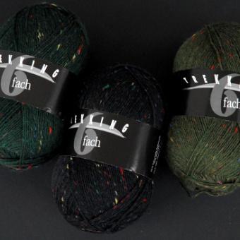 Trekking 6-fach - 6-fädiges Tweed Sockenstrickgarn - ALLE FARBEN! - Atelier Zitron