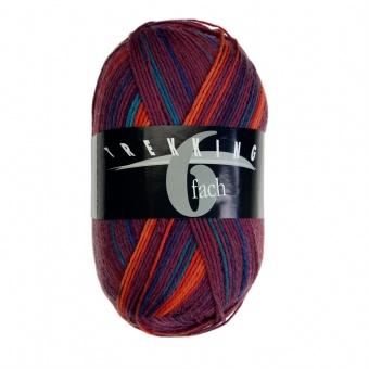 Trekking 6-fach - 6-fädiges Multicolor Sockenstrickgarn - ALLE FARBEN! - Atelier Zitron  Farbe 1895