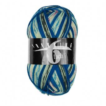Trekking 6-fach - 6-fädiges Multicolor Sockenstrickgarn - ALLE FARBEN! - Atelier Zitron  Farbe 1905