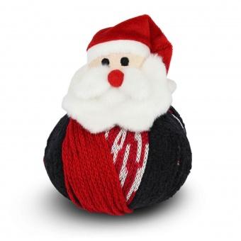 Weihnachtsmann Materialpackung DMC Nikolaus Strickset / Häkelset - Rot-Weiß-Schwarze Wintermütze