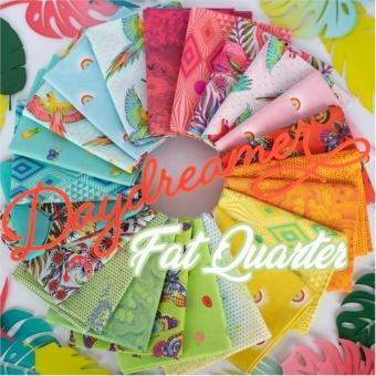 22er Fat Quarter Stoffpaket - Daydreamer Tula Pink Designerstoffe - Tropische FreeSpirit Patchworkstoffe - VORBESTELLUNG! ca. November 2021