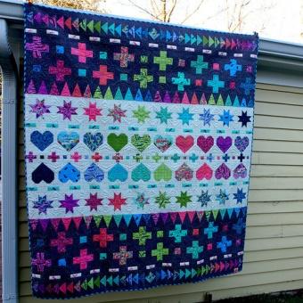 Decorative Stitches Quilt Anleitung- HomeMade Tula Pink Homemade Designerstoffe - FreeSpirit Patchworkdecke - GRATIS DOWNLOAD!