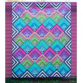 Electric Slide Quilt Anleitung- HomeMade Tula Pink Homemade Designerstoffe - FreeSpirit Patchworkdecke - GRATIS DOWNLOAD!