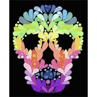 Lady Skellington Quilt Anleitung - Tula Pink Linework & True Colors Designerstoffe Pattern - FreeSpirit Patchworkdecke - GRATIS DOWNLOAD!