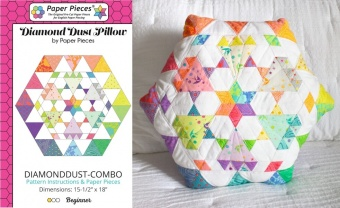 Tula Pink True Colors Diamond Dust Paper Pieces plus Schnittmuster!