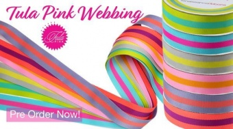 ALLE FARBEN! Tula Pink Designer Webbing - Renaissance Ribbons 38mm Gurtband-Set -  1 1/4 inch Striped Strapping SPARSET! - 6x 2 yards / 1,8m - VORBESTELLUNG! ca. Oktober / November 2021