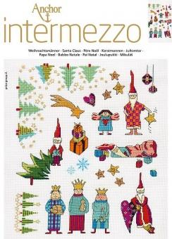 Anchor Intermezzo Weihnachtsmänner Kreuzstichvorlage