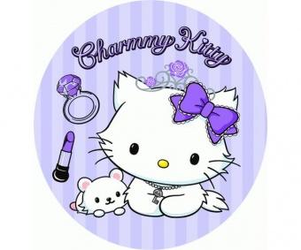 Hello Kitty Charmmy Flieder Flicken Bügelapplikationen - Original Sanrio