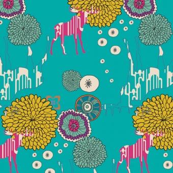 Elchstoff / Hirschstoff - Vivid Paradise Dwellers - Utopia by Art Gallery Fabrics